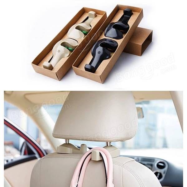 1 paio borse della borsa auto Auto sedile delicato gancio organizzatore gancio titolare cappotto