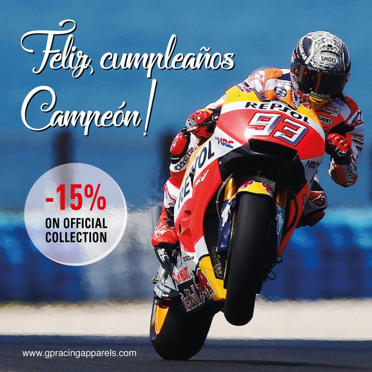 17th FEB - Save 15% on #marcmarquez collection! #mm93 #motogp2017