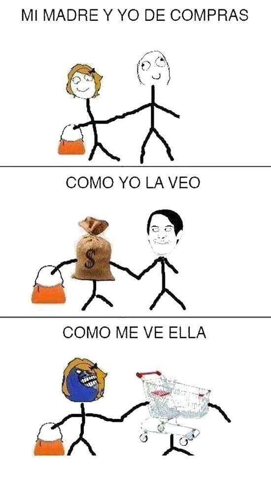 Mi madre y yo de compras
