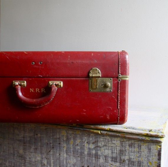 Great Red Vintage Suitcase.
