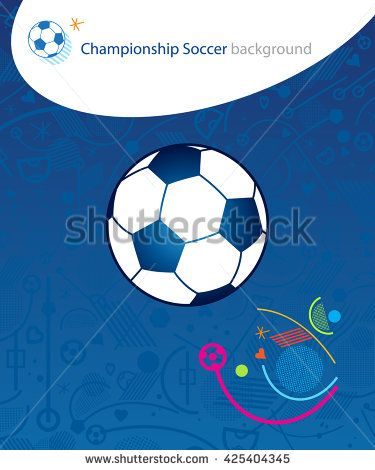 EURO 2016 Championship soccer 2016. European Championship Soccer Ball poster. Champion soccer winner. Abstract blue background with soccer ball icon. Template football banner. UEFA Vector Illustration - stock vector