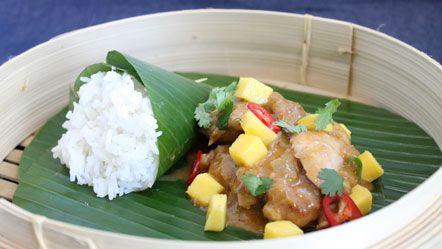 Kip met rode curry en verse mango - Recepten zoeken
