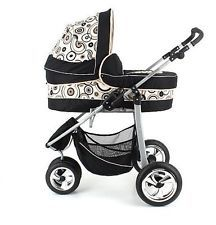 2in1 Cheap Pram Stroller Toddler Buggy Swivel Wheels --- Three Wheeler