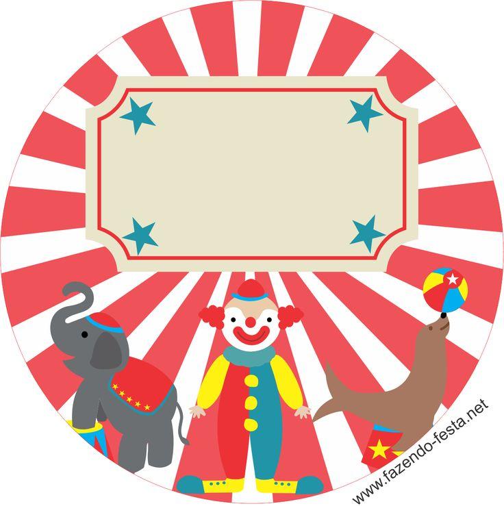 kit festa tema circo adesivo sacolinha
