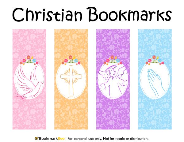 Free Printable Christian Bookmarks Featuring Graphics Of A