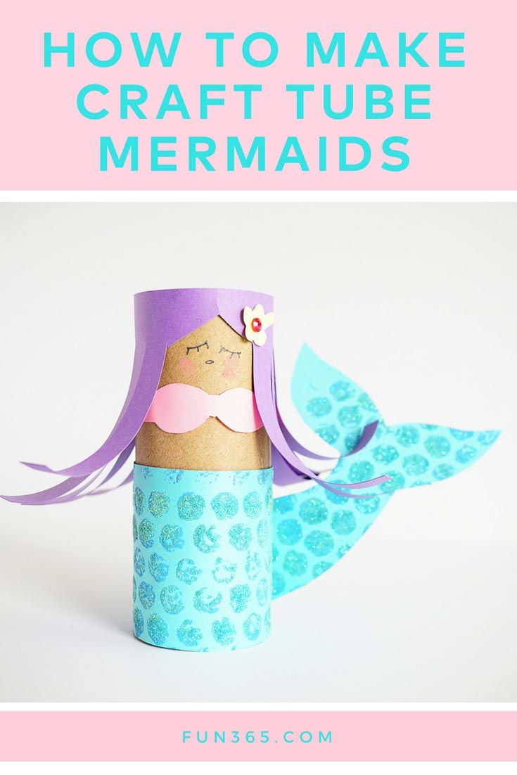 Create This Adorable Mermaid Out Of A Craft Roll Free Printable