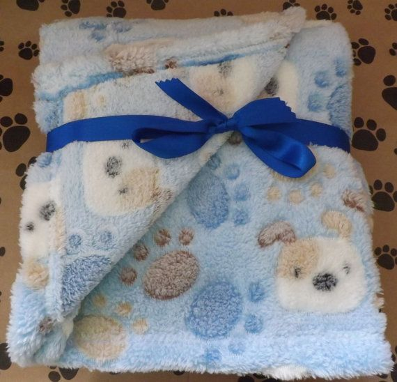 Blue Dog Warm and Baby Soft Cozy Dog Blanket great by muddypuppys, $14.99. This is just too cute.