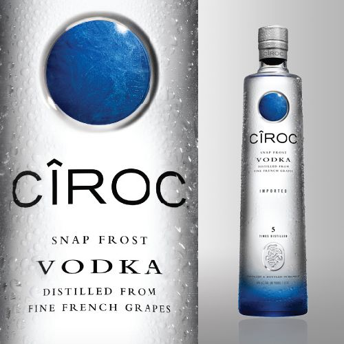 Cîroc+Vodka NO CORN (Two different types of french grapes)