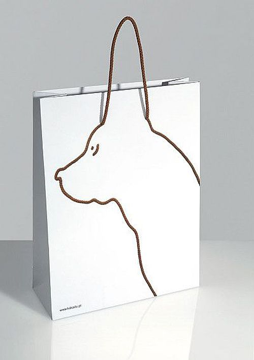 Packaging, shopping bag design, dog, great idea for a pet shop