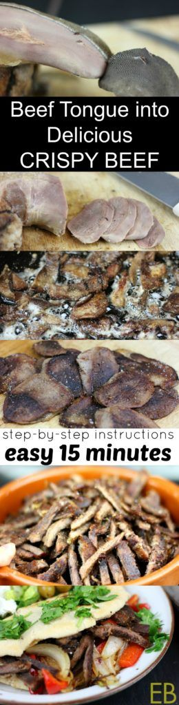Beef Tongue into Delicious CRISPY BEEF - with an Instant Pot option