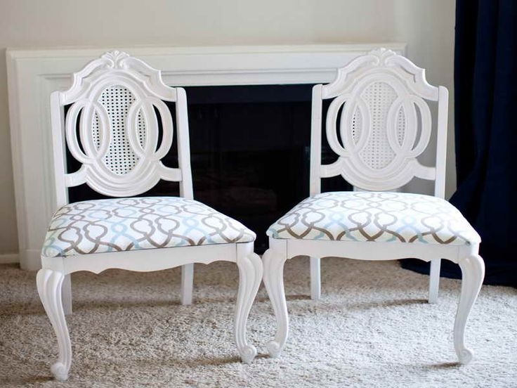 How to Reupholster a Dining Room Chair in a Convenient Manner: How To Reupholster French White Dining Room Chair ~ gamesbadge.com Furniture Inspiration