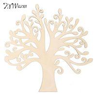 Nuova Legno MDF a Forma di Albero di Famiglia Wedding Guestbook Wall Art Decor 300mm x 285mm per la Casa Festa Decorazione Legno Artigianato regali