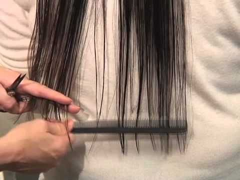How to trim your hair at home the correct way. I still wish she had cut her own hair. I dont trust anybody around my hair with a pair of scissors. I need to know how to do it myself.