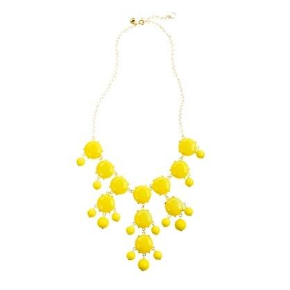 Bubble necklace, priced $150.00 on jcrew.com, for $17.99 on ebay. http://www.ebay.com/itm/NEW-Jcrew-J-CREW-turquoise-Bubble-Bib-Statement-Party-Long-Fringe-Necklace-/270942211244?_trksid=p4340.m185&_trkparms=algo%3DSIC.NPJS%26its%3DI%252BC%26itu%3DUA%26otn%3D5%26pmod%3D320866331459%26ps%3D63%26clkid%3D7418135082474667449