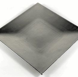 """Charger Plates 12"""" Square Silver (borrowed from NLC)"""