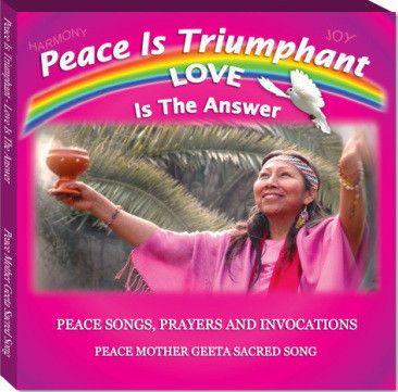 "Pash In Lak'esh! We are One! May all Humanity bathe in Peace and share in the Light. The track ""Kali Durge Namo Nama"" from Peace Mother Geeta Sacred Song's album ~Peace is Triumphant~ will shower Divine Light upon you and your surroundings. Enter the code spirit50 for a limited time 50% off on all albums. #SpreadtheLight!  ~IWOL Global Peace Team On behalf of Peace Mother Geeta Sacred Song"