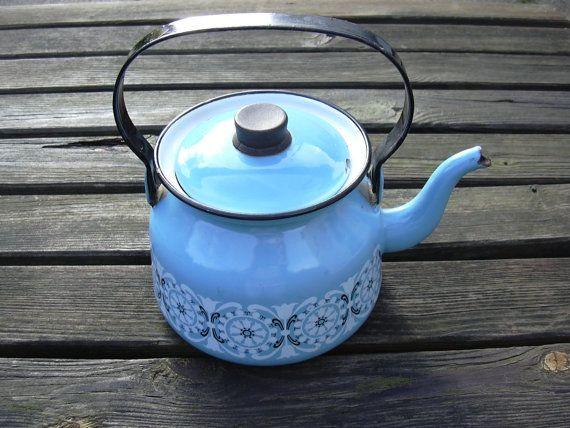 Finel teapot Arabia Finland Mid century Finnish by MyNiftyBrocante