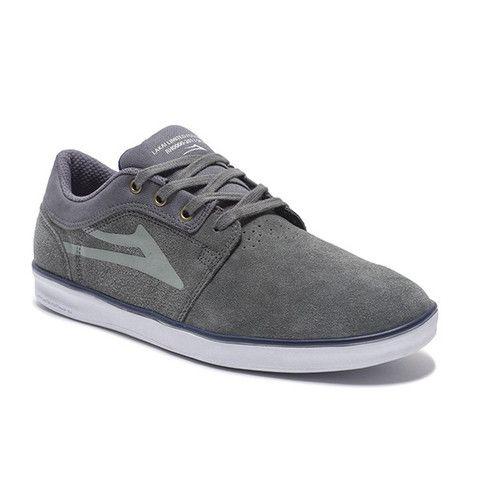 Lakai MANCHESTER Navy/Gum Suede monopatín zapatos/zapatillas, azul