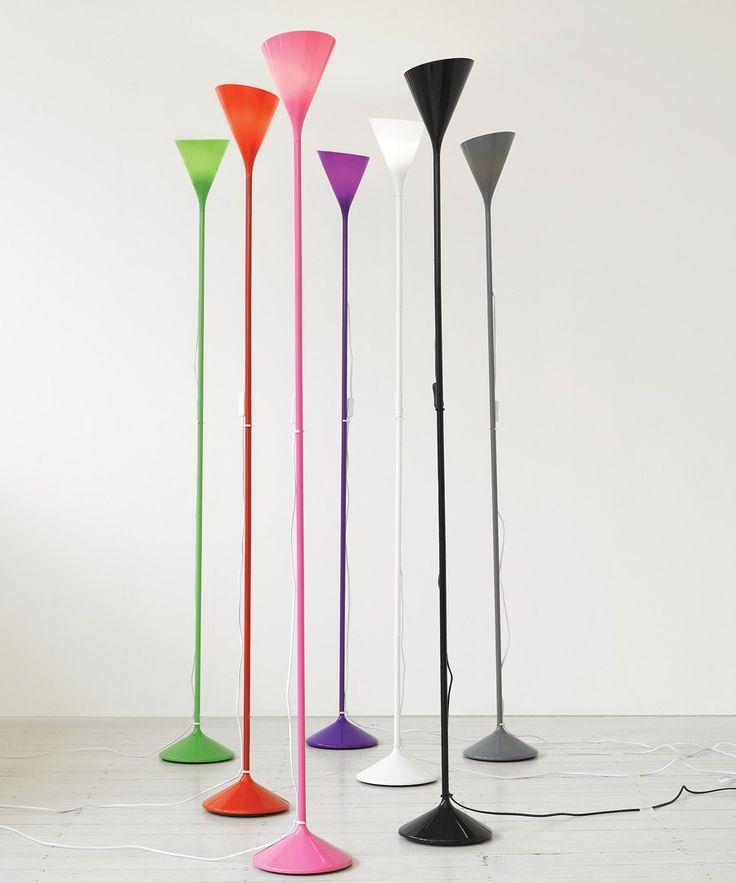 Vivid 1 Light Uplighter in Green | Floor Lamps | Lamps | Lighting