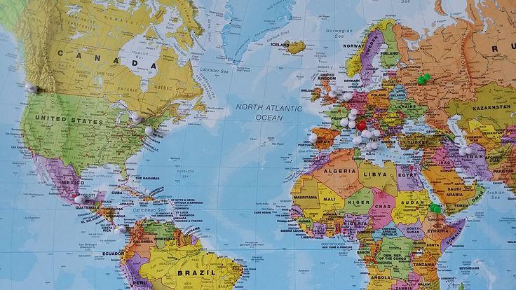 la mappa della provenienza dei nostri ospiti nei primi 10 giorni di vita our guests and their lands @wowflorenceh #worldwide