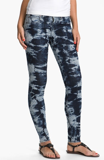 Articles of Society Tie Dyed Skinny Jeans (Juniors) | Nordstrom