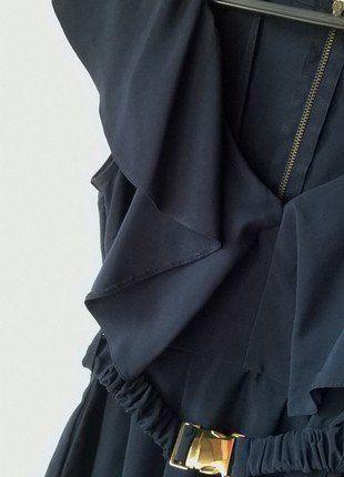 Granatowa sukienka H&M