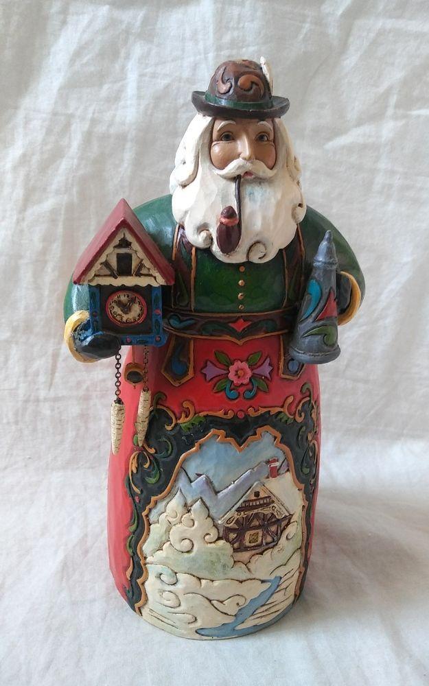 Jim Shore Christmas Heartwood Creek From Enesco German Santa Figurine Enesco Jimshore Santa Christmas Christmasdecor