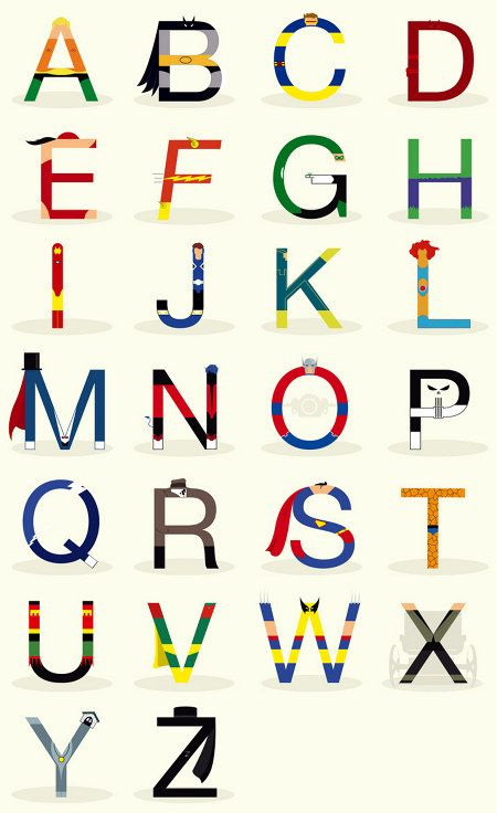 Superhero Alphabet - Boys' Room!