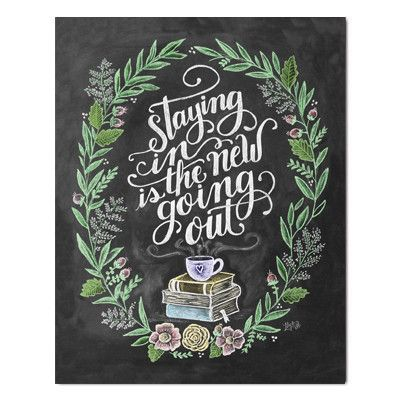Staying In is the New Going Out - Print #Gifts #home #New