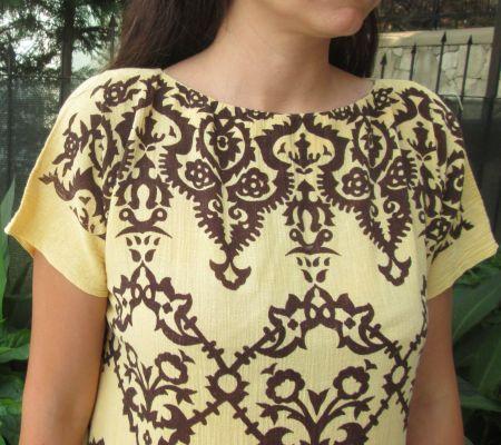 Desenli Keten Yazlık Elbise/El Dikimi / Handmade Summer Linen Dress Opuspocus Butik-58 TL http://www.opuspocusbutik.com/urun/desenli-keten-yazlik-elbiseel-dikimi/251284
