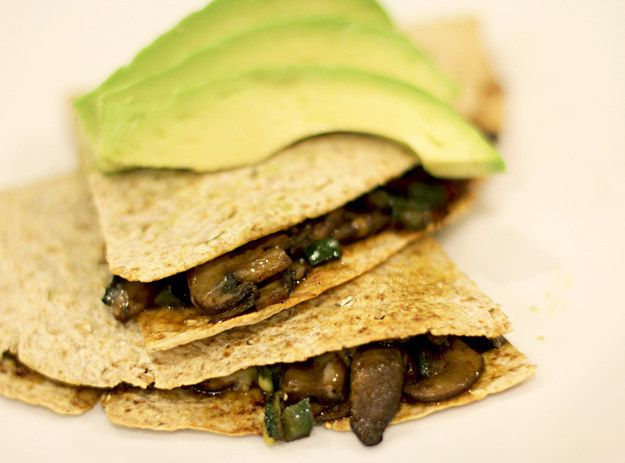 Mushroom Trio Quesadilla | 41 Healthy Things To Eat If You Absolutely Hate Salad