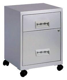 Caisson a tiroirs Pierre Henry 2 Combi 53 H x 41 l x 41 P cm Argente par Office Depot