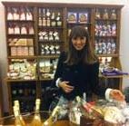 Benedetta Parodi visita il temporary shop del Paniere dei Prodotti di Pregio.