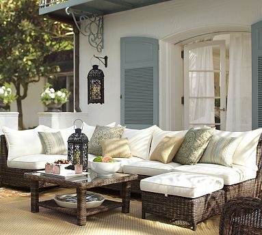 Torrey All-Weather Wicker Sectional Set #potterybarnPotterybarn, Outdoor Seats, Outdoor Furniture, Patios Furniture, Outdoor Living, Outdoor Patios, Outdoor Room, Outdoor Spaces, Pottery Barns