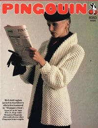8063Pi  - ladies blackberry stitch coat style cardigan - vintage knitting pattern