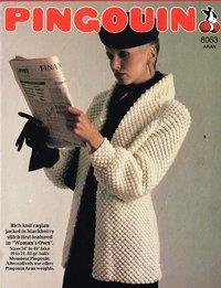 8063Pi  - ladies blackberry stitch coat style cardigan - vintage knitting pattern