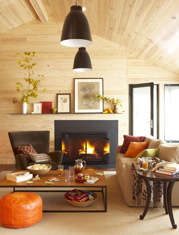 Living Room Fall Setting....LOVE!!
