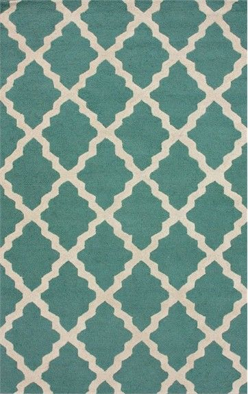 Moroccan Trellis Rug in Spa Blue, Patterned Rugs, Rugs for Children