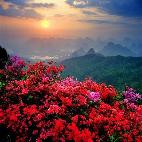 Natural Beauty.. [ Image Source ] China stretches some 5,026 kilometers (3,123 mi) across the East Asian landmass.[ wiki ]