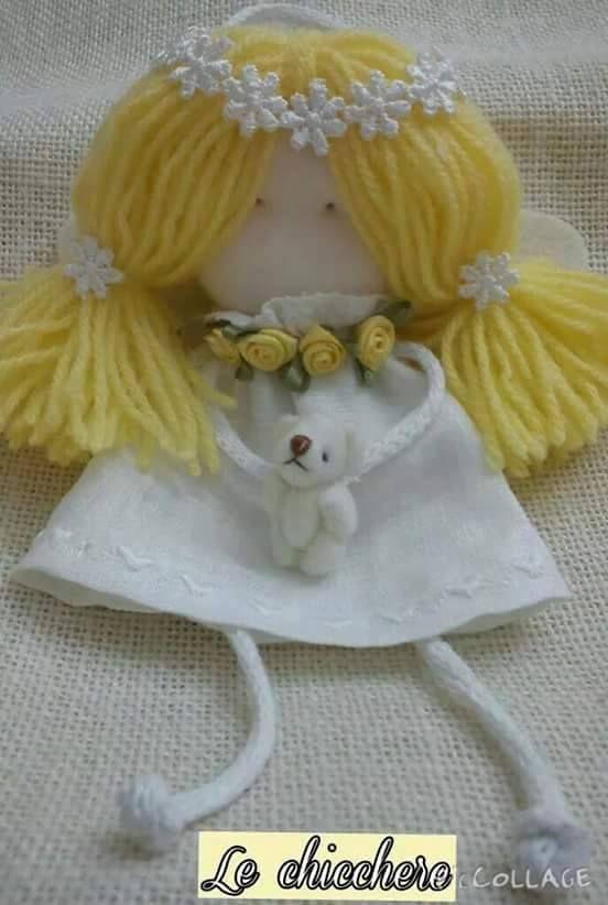 Le bambole Fatte a mano Le chicchere