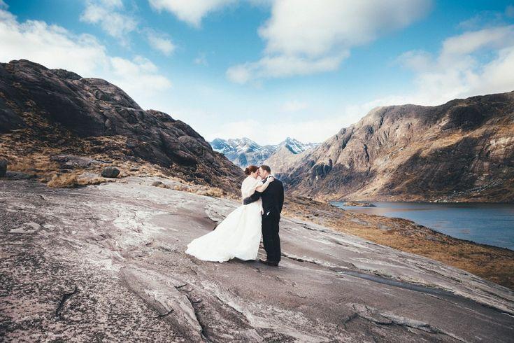 Humanist, Loch Coruisk Elopement Wedding, Isle of Skye, Scotland. Outdoor wedding, Scottish Highlands. Photography by Glasgow wedding photographers, Wilson Mcsheffrey.