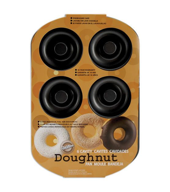 Wilton 6 Cavity Doughnut Pan. Does a great job. Bought it for my daughter and she has used it several times. I'm going to have to buy another one.
