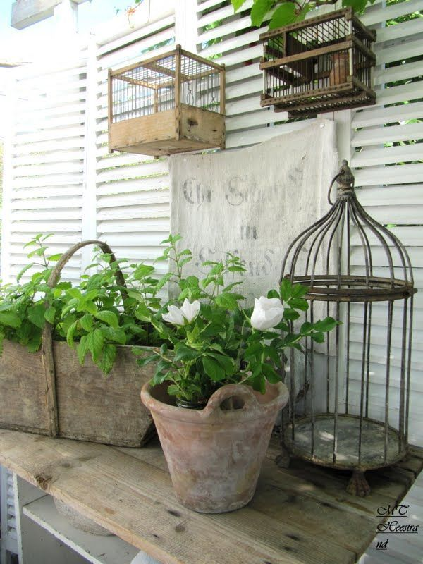 French Shabby-Chic Style Outdoor Design