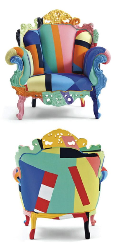 The Proust Geometrica Armchair by Alessandro Mendini for Cappellini