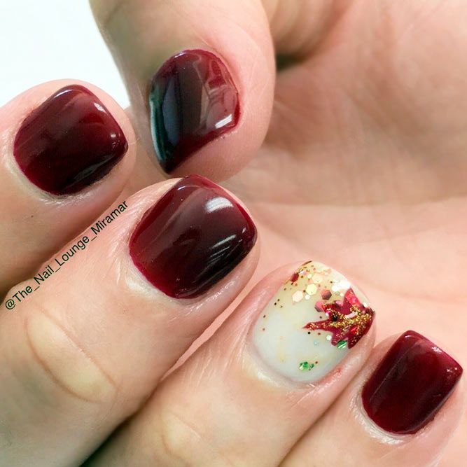 The Polish Playground Glittery Autumn Leaf Nail Art: Best 25+ Thanksgiving Nail Designs Ideas On Pinterest