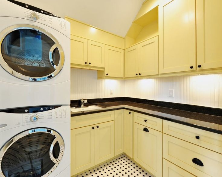 yellow letter L style cabinets for modern laundry room of Inspiring Utility Cabinets for Laundry Room