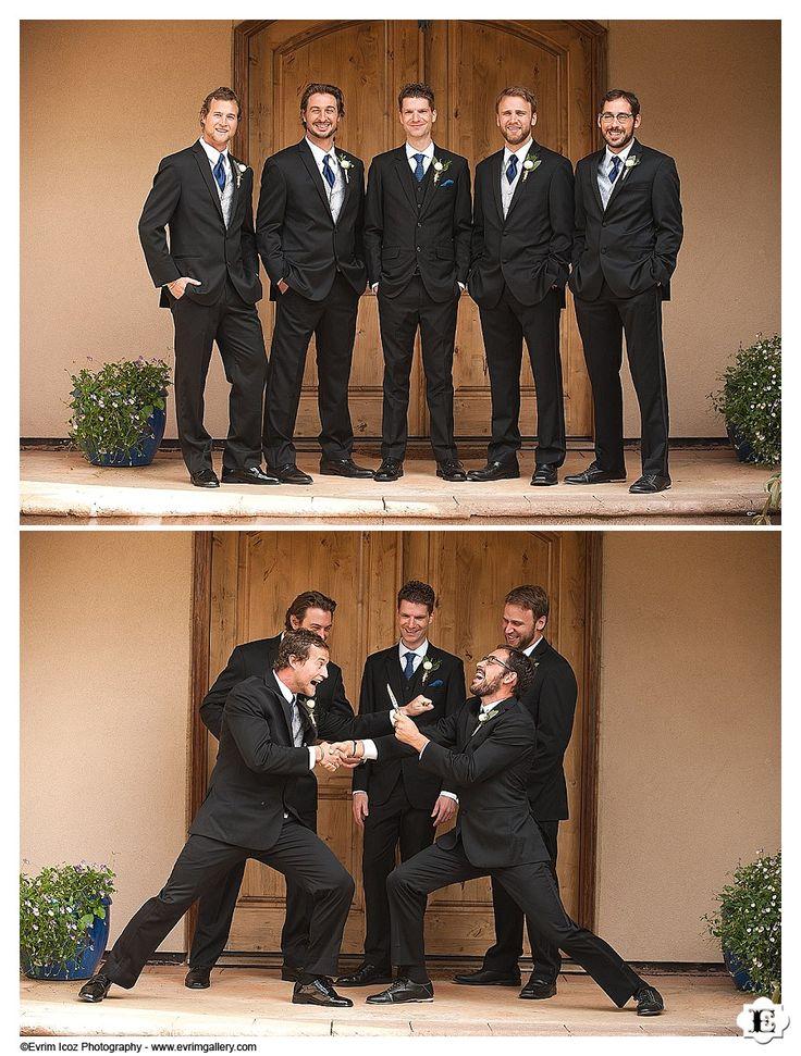groom and his men at the Villa