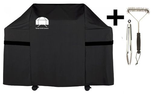Texas Gas Grill Cover 7553 Premium Cover For Weber Genesis Gas Grill Including Grill Brush And Tongs, 2015 Amazon Top Rated Grill Covers #Lawn&Patio
