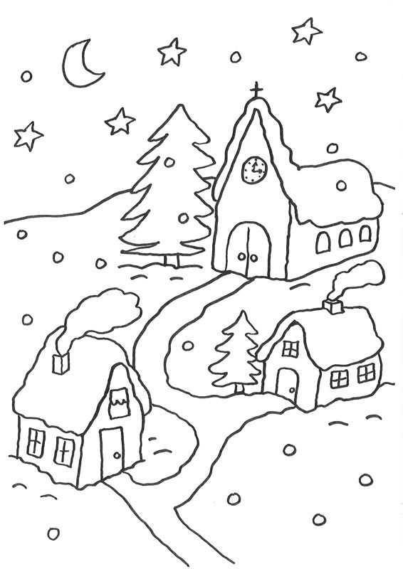 171 besten Weihnachts ausmalbilder Bilder auf Pinterest ...