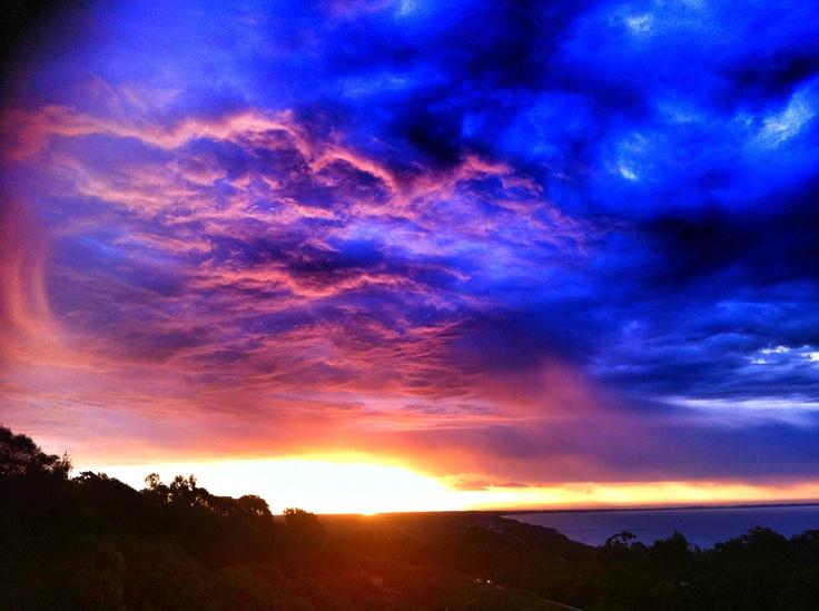 Sunset over Rye Beach, Mornington Peninsula, Victoria,AUSTRALIA